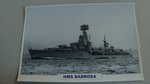 1945 HMS Barrosa Destroyer warship framed picture